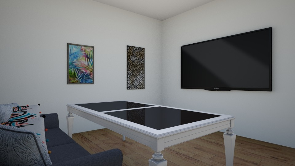family and living room - Modern - Living room - by LuckyVicky