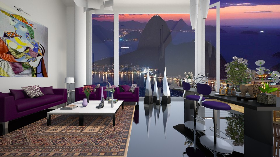 Penthouse living room - by Themis Aline Calcavecchia