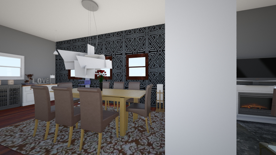roomy and cozy - Modern - Dining room - by CasuallyCrystalClear