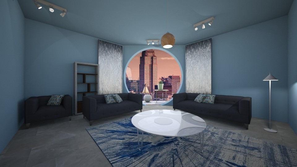 Circle View - Living room - by starbringer23