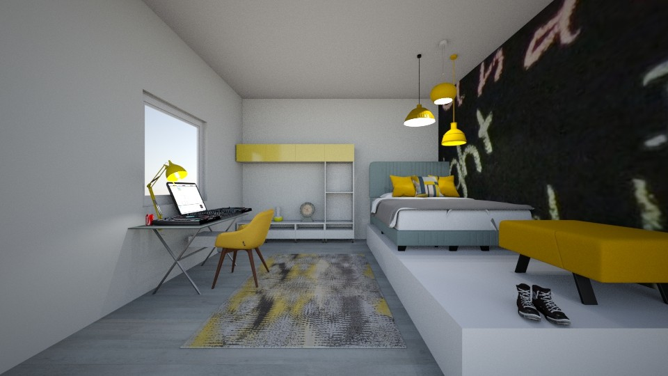 yellow bedroom - by dia17a
