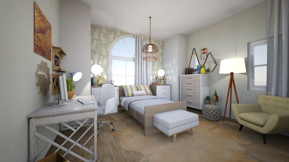 bohemian bedroom - Bedroom - by mmanes