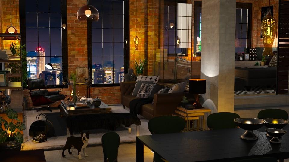 Glass and Brick 2 - Living room - by Mariana Gooliveira