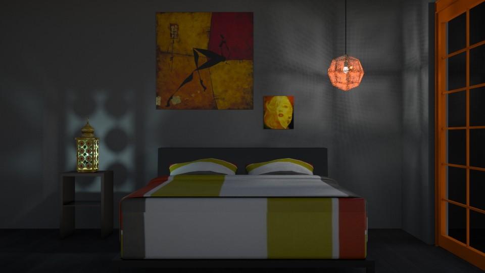 orange - Bedroom  - by odeliaa