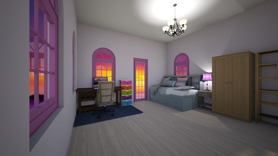 lavender hills - Bedroom - by wolfiewolf123