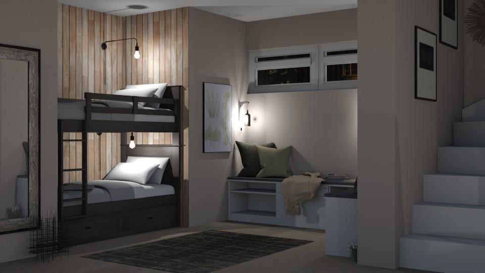 Basement_Bedroom - Bedroom - by RaeCam