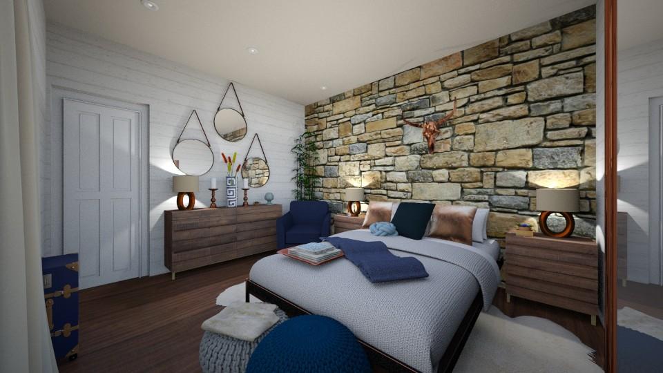 Bleu Haze bedroom 1 - Bedroom - by Lisett