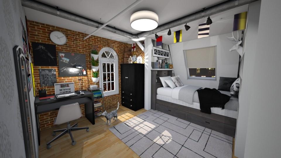 Brooklyn micro bedroom - Minimal - Bedroom - by Randy Hamlin Jule