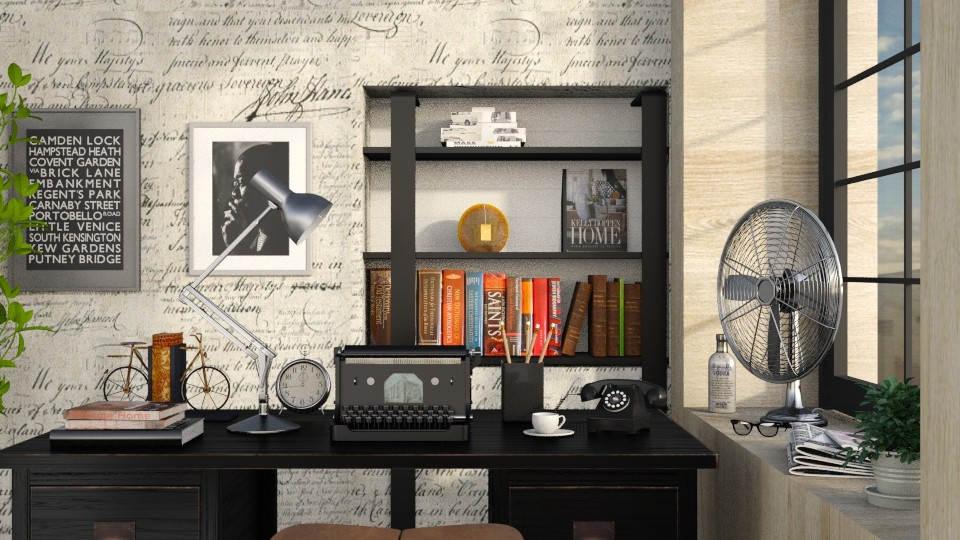 The Writers Corner 2 - Retro - Living room - by Sally Simpson