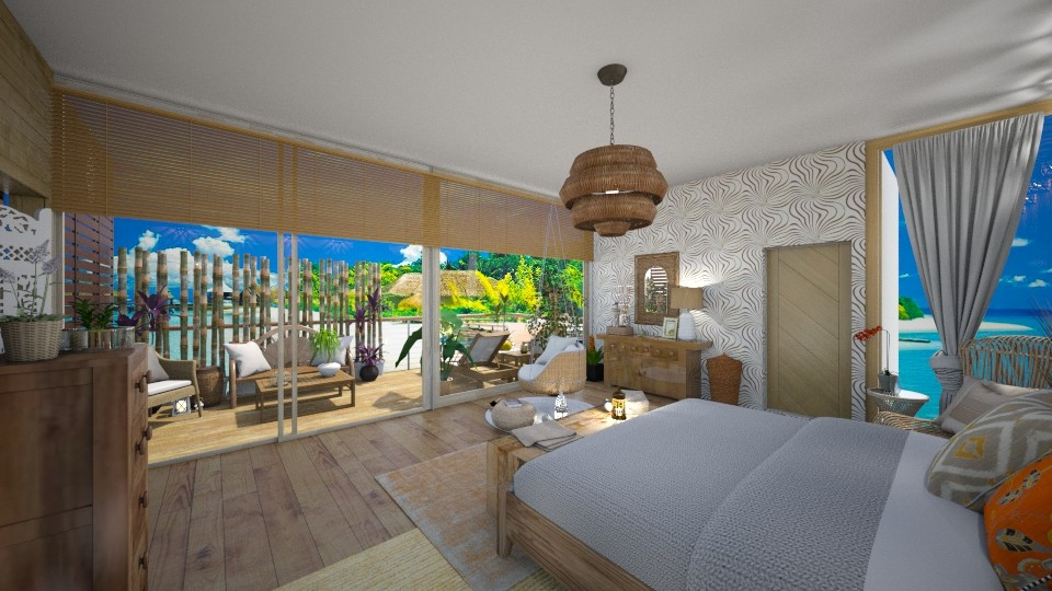 beach master bedroom - Bedroom - by Cataresteves