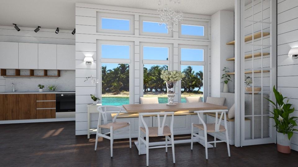Modern Farmhouse Morning - Modern - Dining room - by Elya Vovak