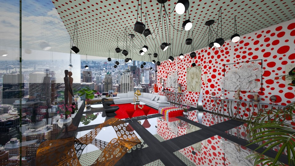 Inspired by Yayoi Kuzama - Eclectic - Living room  - by LuzMa HL