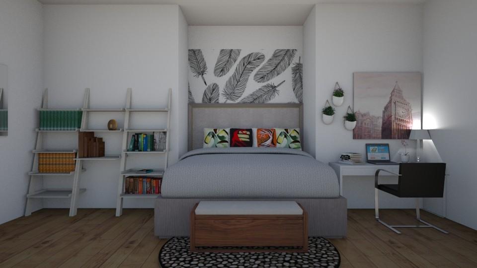Mural Bedroom - Modern - Bedroom - by rileyemily