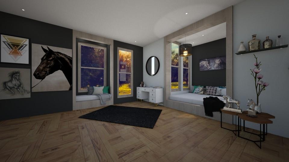 Horse lover - Bedroom - by JarvisLegg