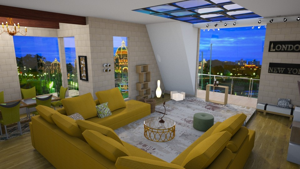 glass n brick - Living room  - by jdenae3