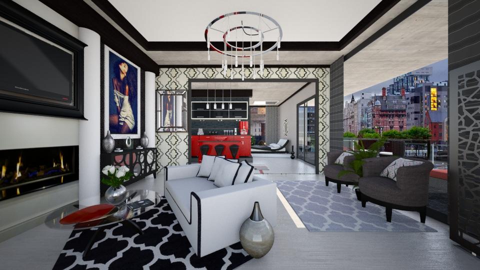 Modern Apt Living - Living room - by steph01mami