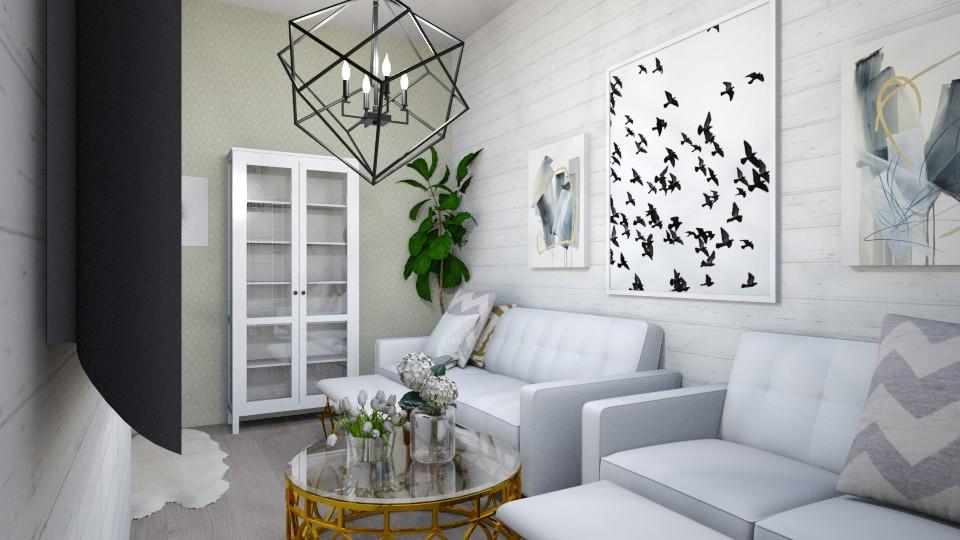 greyandgoldlivingroom - by tahliawaters