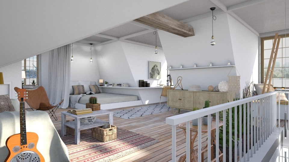 Attic Space - Eclectic - Living room - by evahassing