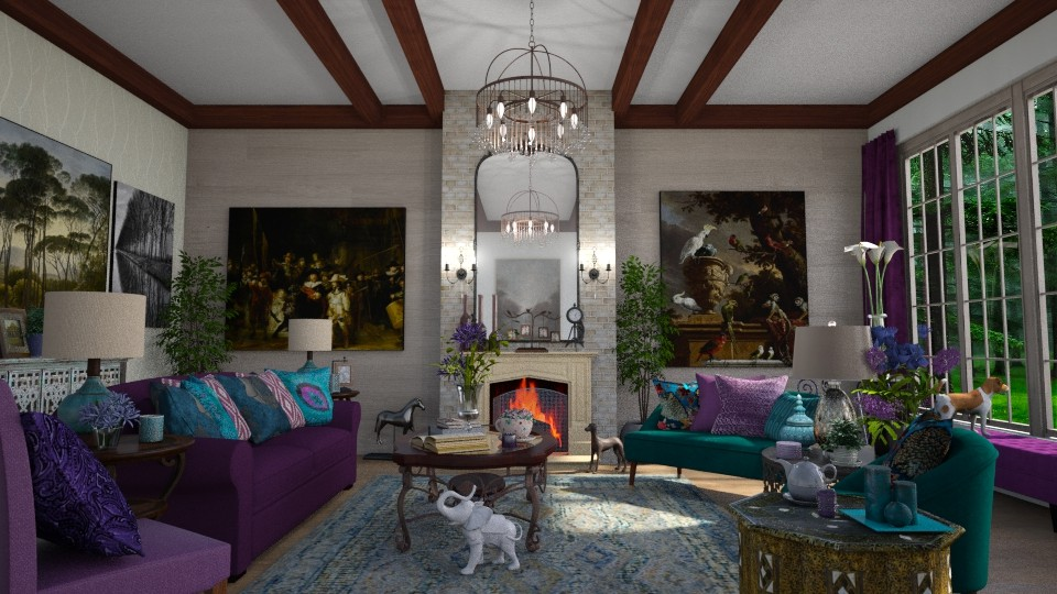 Maximalist Living - Living room - by  krc60