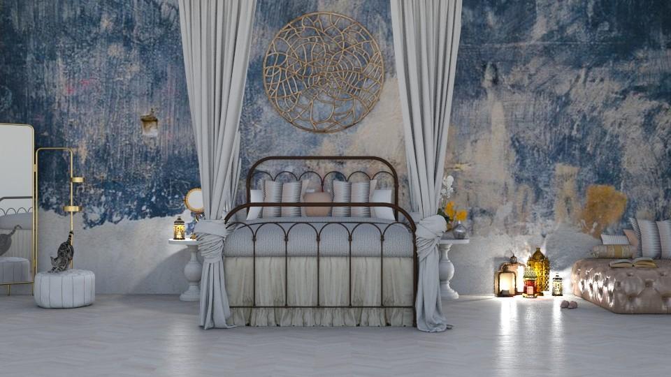Bohemian bedroom - Bedroom - by sephara