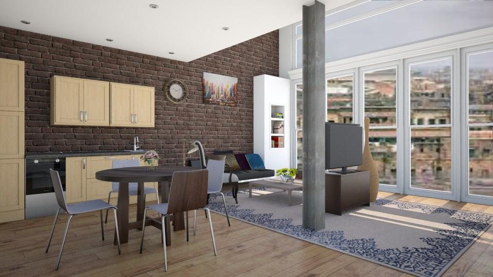 Loft Living - Living room - by abbyt94
