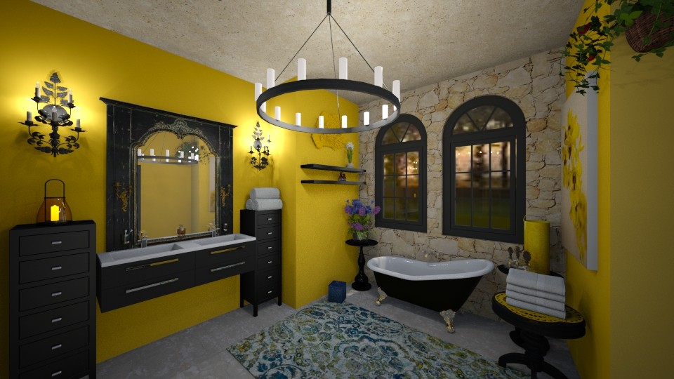 Yellow Bathroom - Bathroom - by SherryDW
