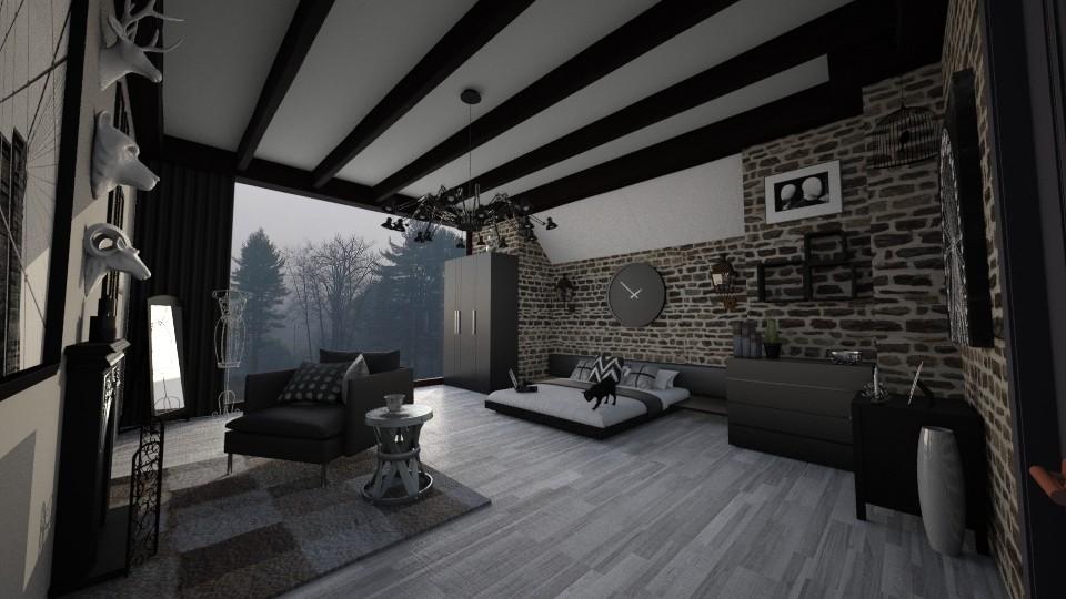 Darker that black - Glamour - Bedroom - by Randy Hamlin Jule