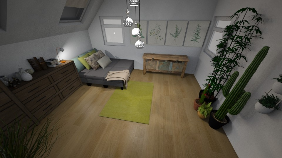 Minimalist Attic Room - by Emma Wright_708