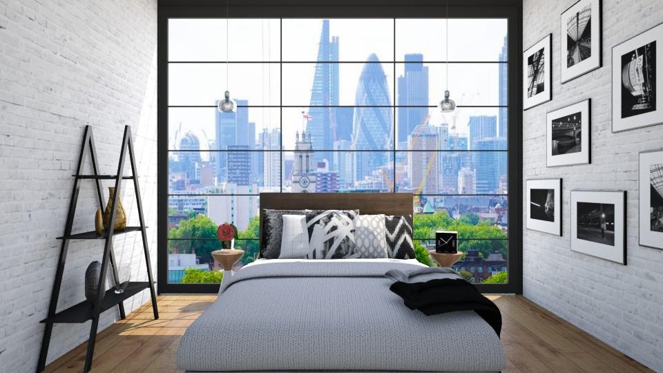 Black and With Seoul - Bedroom - by niidurose