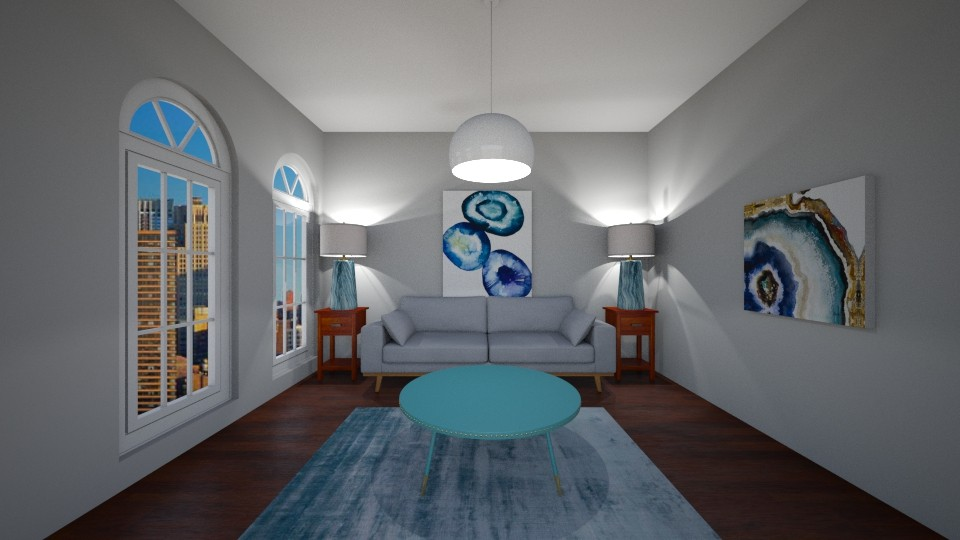 Teal Living - Living room  - by house17