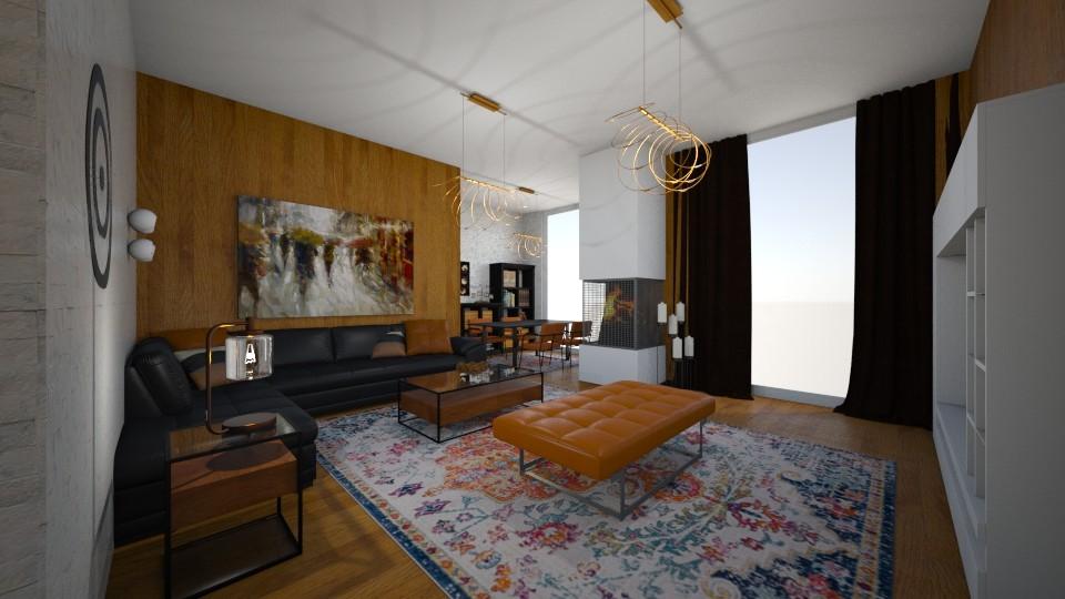 black - Living room - by Vasiliki Stagkidou
