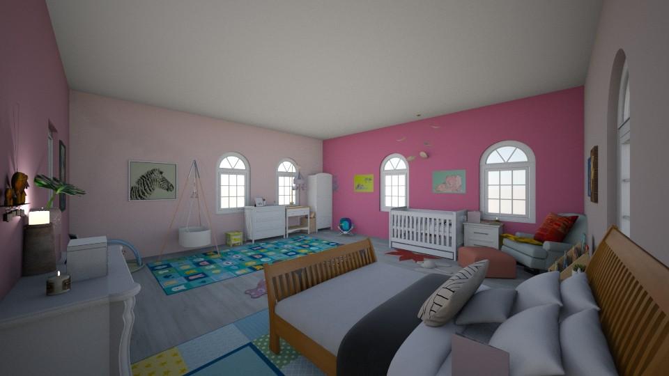 baby girl room no2 - Feminine - Kids room - by crystalg98