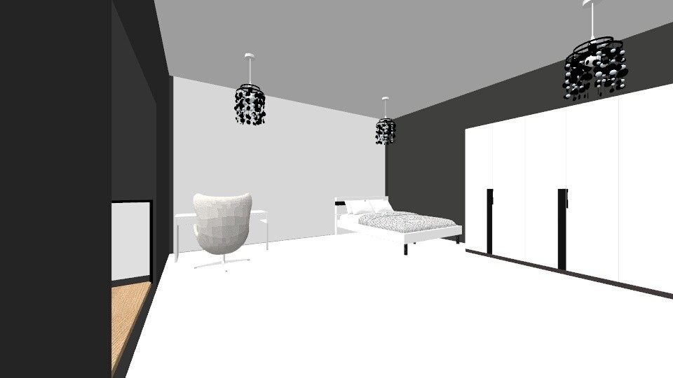 Black and White - Bedroom - by mistycopeland