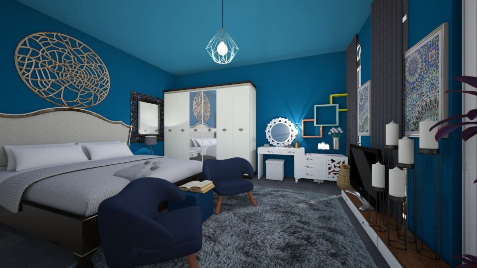 blue - Modern - Bedroom - by lamzoi