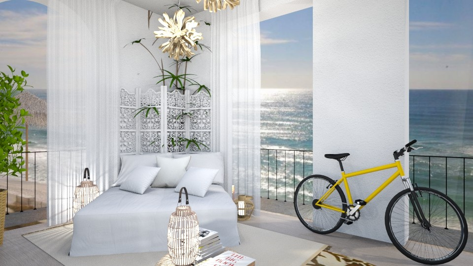 Bedroom by the beach - by Maryjo1965