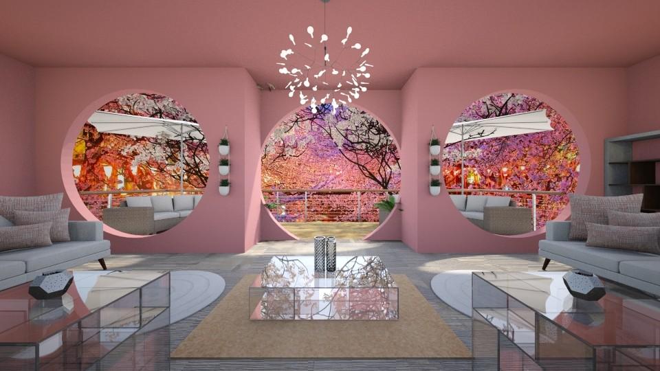 Cherry Blossoms - Living room - by starbringer23