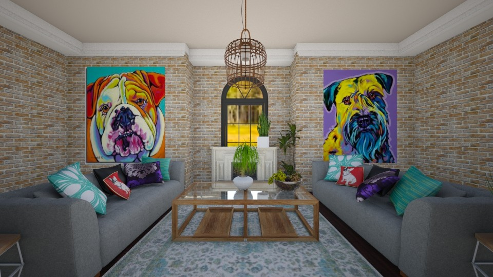 dog - Living room - by Jean Paul Gallardo