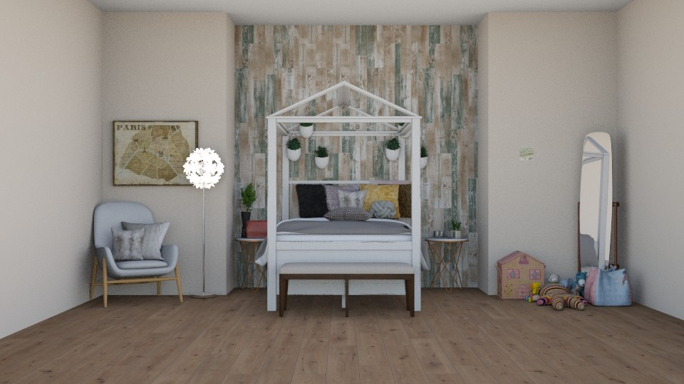 boho child room - Kids room - by Zaria UwU