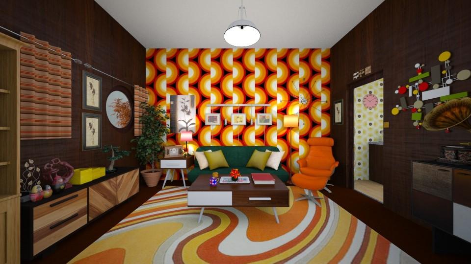 Kitschy  - Living room - by ijustlikemakingfloorplans