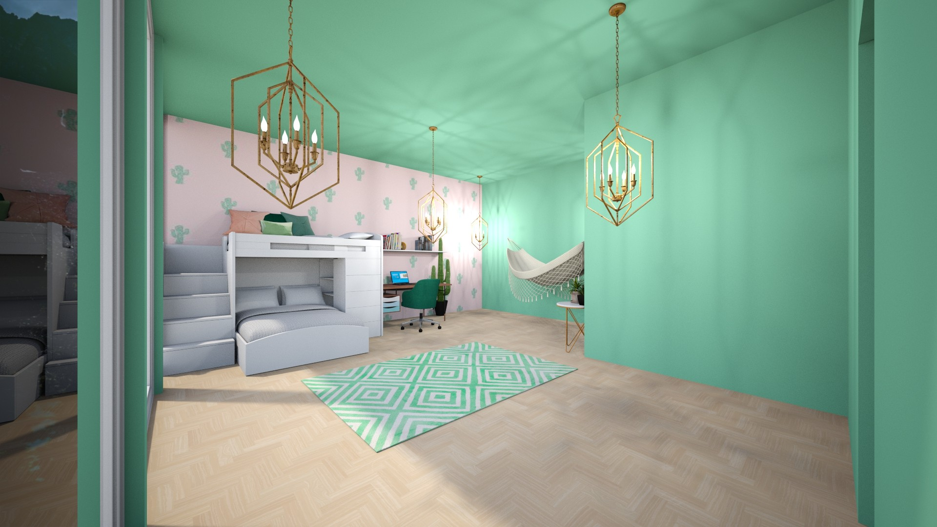 plant aesthetic room 2 - Kids room  - by AM_POTAT
