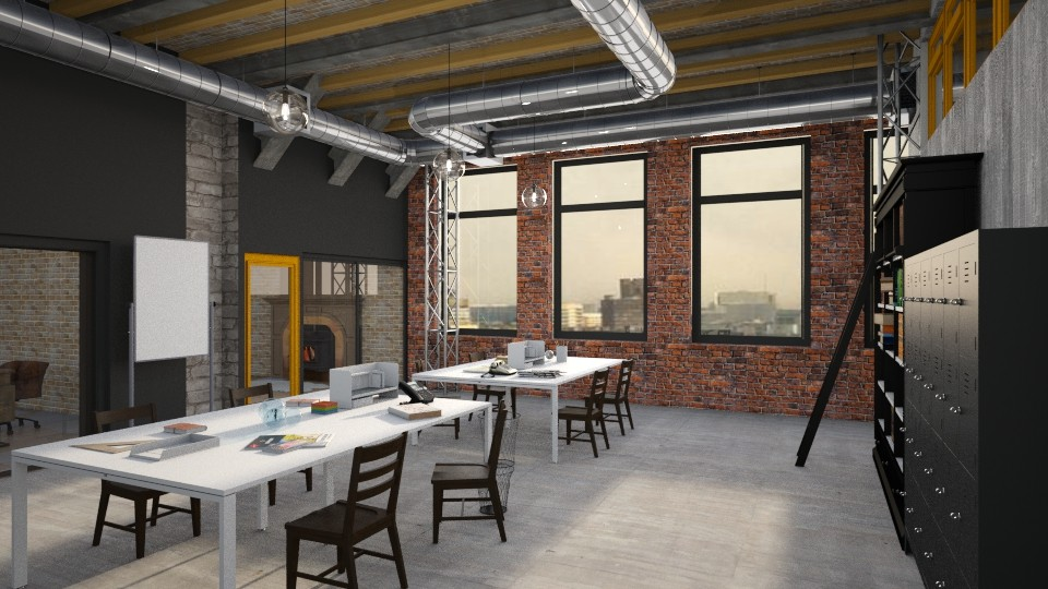 Old Factory Office - Vintage - Office  - by Yemascus
