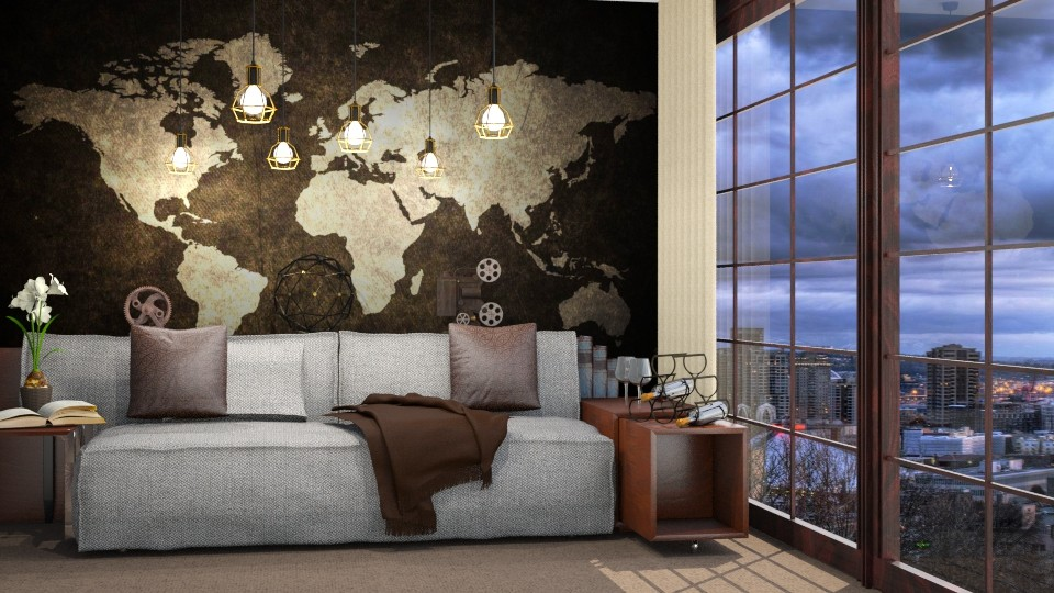Brown_ie Mix - Living room - by Hajnalka978