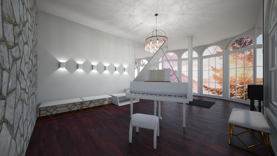 Pole and Piano Room - by rebecca812