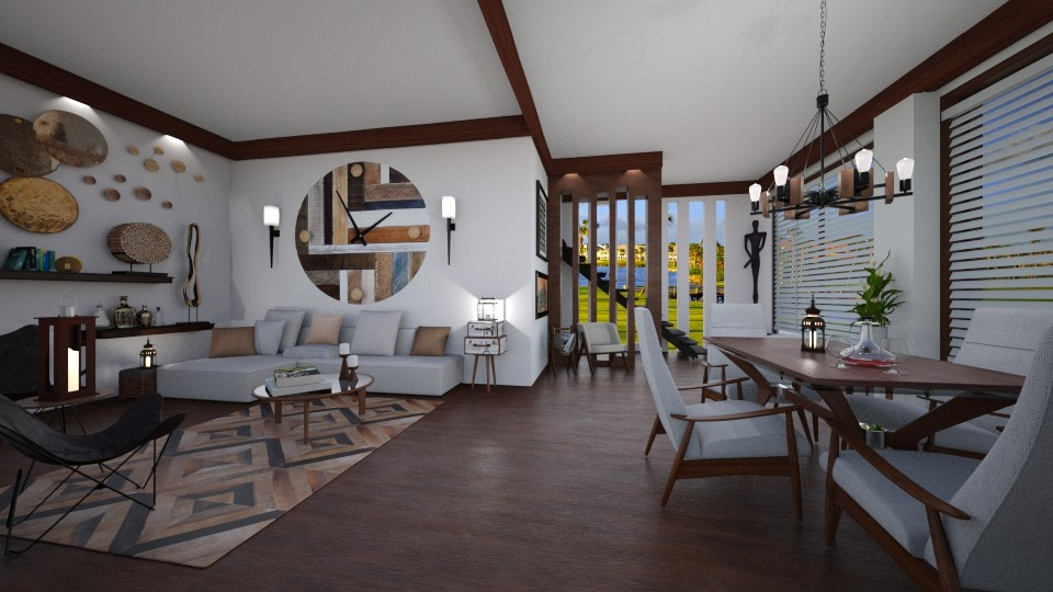 Golf Resort - Living room  - by Lackew