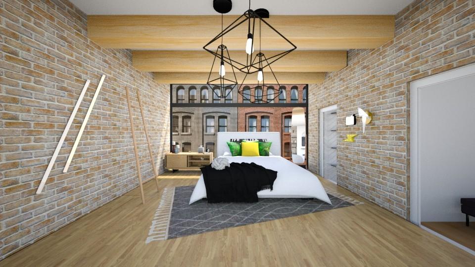 City Loft Bedroom - Bedroom - by fantabulastica