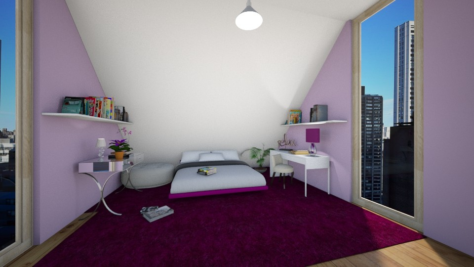 sloppy slope room - Bedroom - by AlinaZ