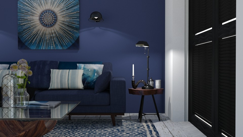 deep blue - Living room - by maudberg01