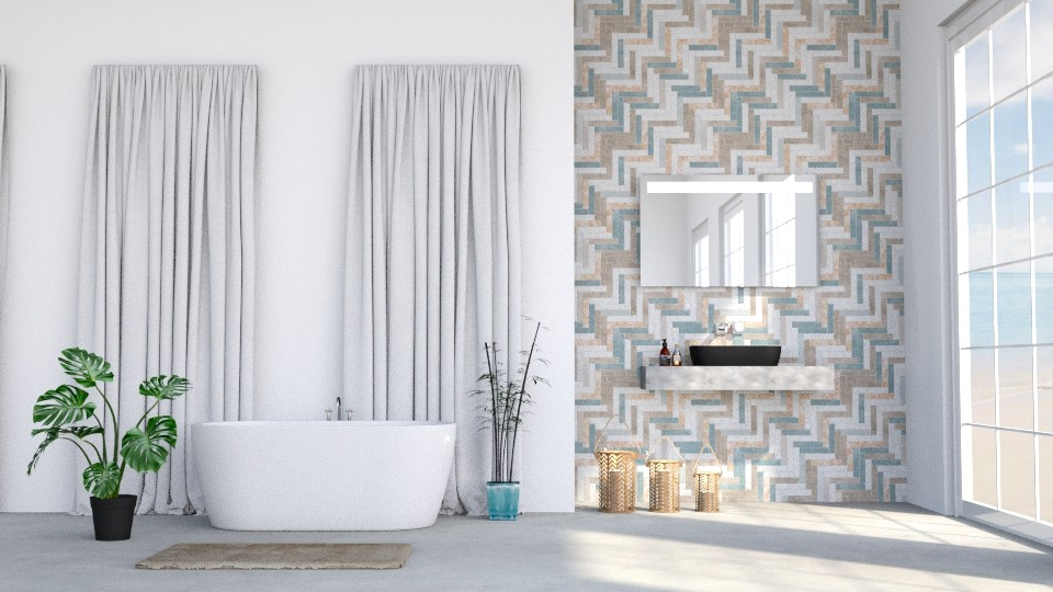Modern bathroom - Bathroom - by LunaBradley