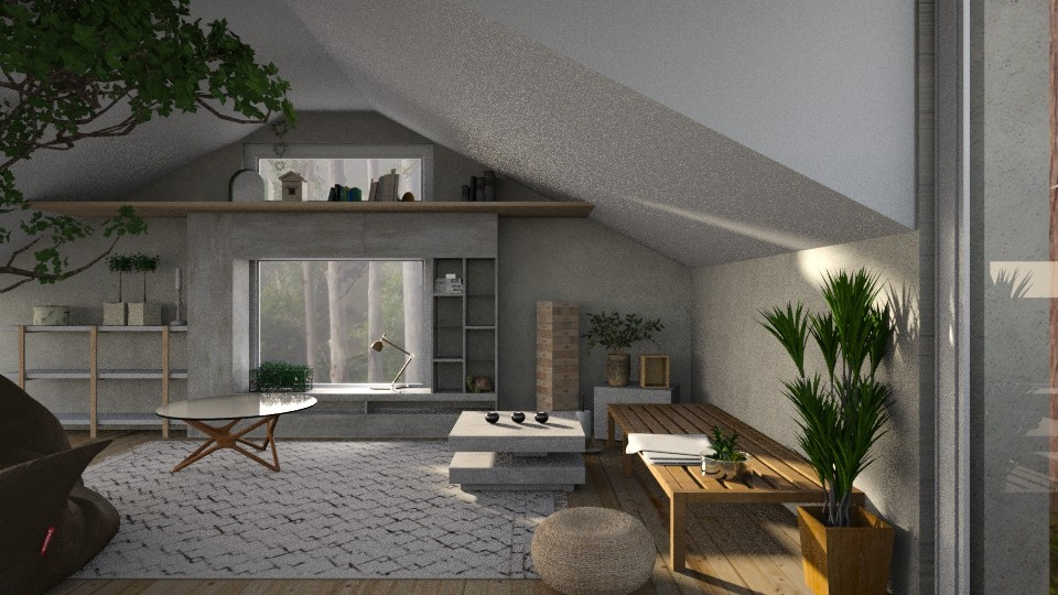 green attic - Minimal - Living room - by jjannnii