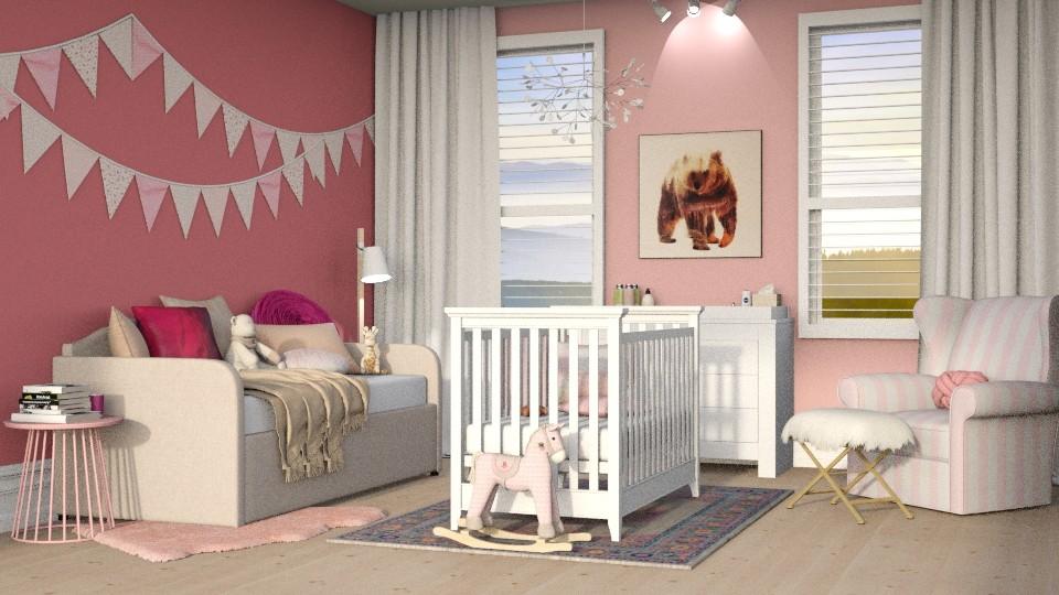 Pink Baby - Kids room - by DeborahArmelin